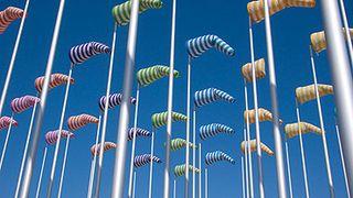 Detail: Le vent souffle ou il veut - Daniel Buuren