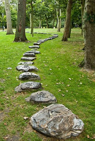 Stone Path - Xu Bing