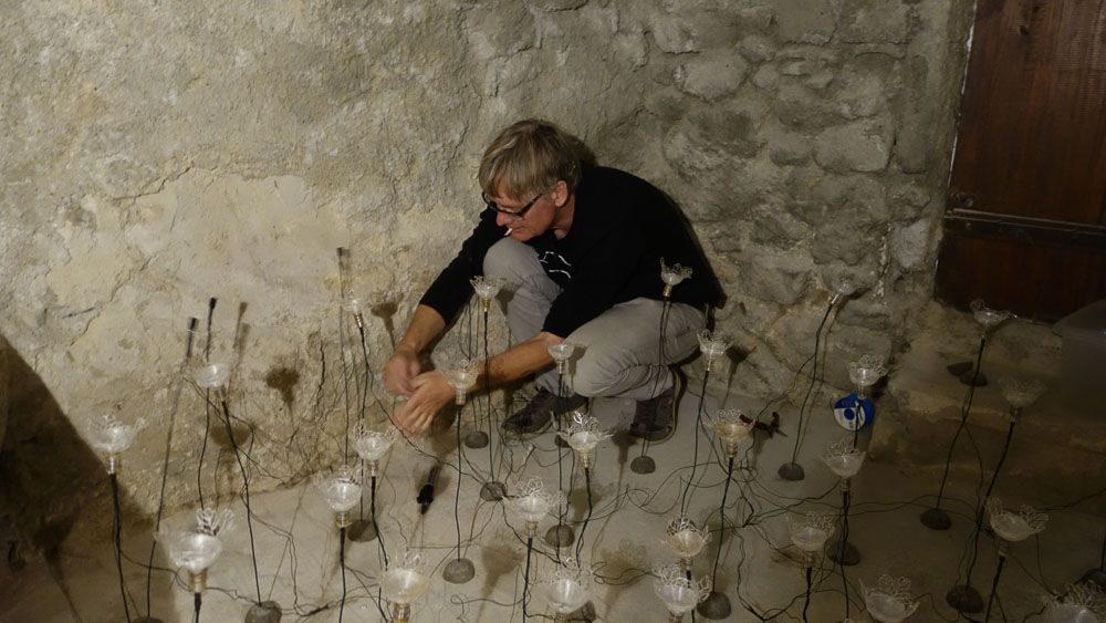 installation Larmes Célestes @ maison de la tour
