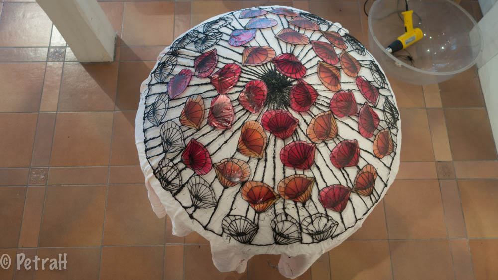 Coupe coquelicot work in progress